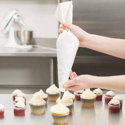 Cakeware Cake Decorating Set Frosting Icing Piping Bag Tips with Steel Nozzles Reusable & Washable