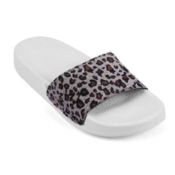 Stylish Grey Synthetic Printed Slip-On Slipper For Women