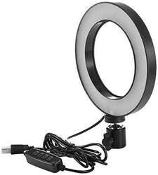 Jango Hi-Brightness Ring Light with Phone Holder Dimmable Makeup Light with 3 Light Mode,10 Level Brightness for Make-up/Video Shooting/Vlogging (12 Month Warranty) (10 Inch)