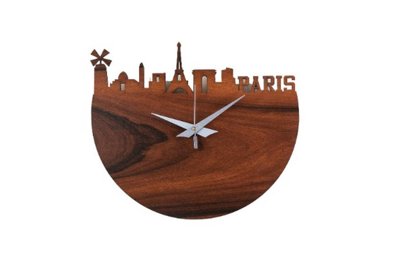 MSK Analog Round Paris Wall Clock - Brown Colour