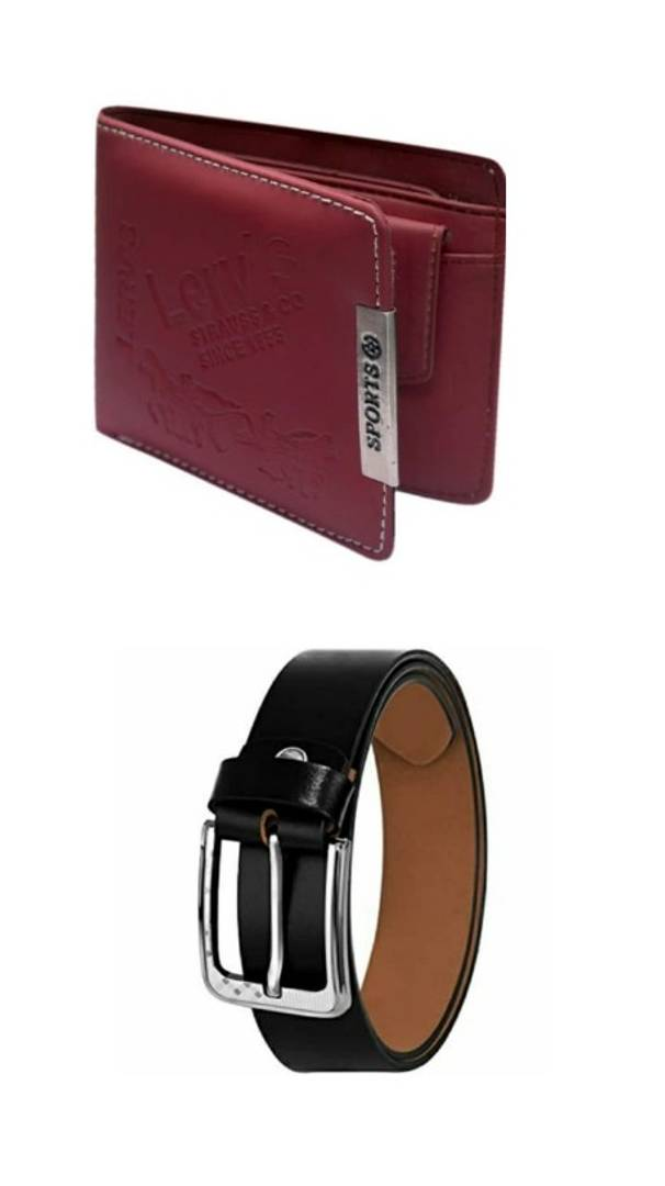 Men's Belt and Wallet (Combo of 2)