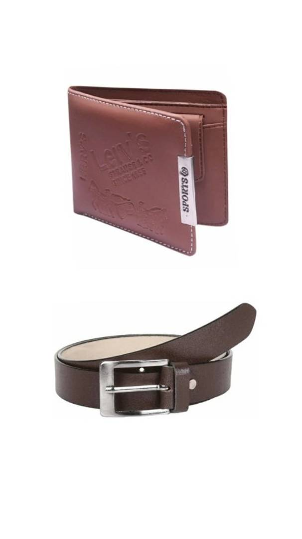 Men's Wallet and Belt (Combo of 2)