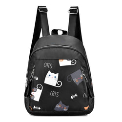 UK194  9L  Latest stylish branded black ladies backpack for girls women for school college office.
