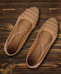 Stylish Synthetic Tan Bellies For Women