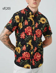 Elegant Multicoloured Printed Cotton Clothing Fabric For Men