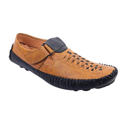 Men's Stylish and Trendy Tan Solid Synthetic Casual Comfort Sandals