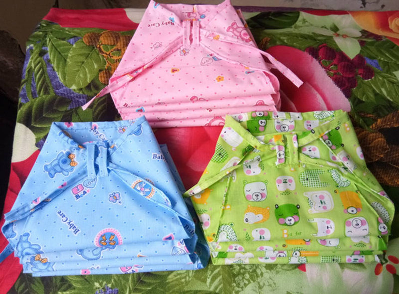 Kids Nappies Cotton Langot  reusable washable 0-6 Months Baby Pack of 12