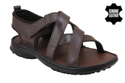 Men's Stylish and Trendy Brown Solid Leather Comfort Sandals