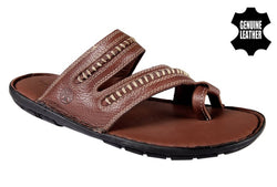 Men's Stylish and Trendy Red Solid Leather Comfort Sandals
