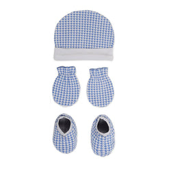 Rabbit Pocket Cotton Printed Cap Mittens Booties For New Born Baby Unisex Set of 3 Combo Pack