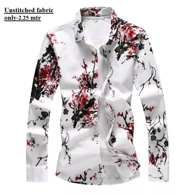 Latest Digital Printed Men'S Unstitched Shirt Fabric 2.5 Mtr
