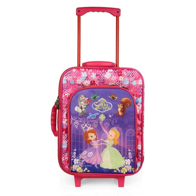 Creative Pink Polyester Printed Trolley For Kids