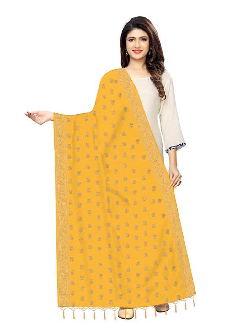Stylish Silk Zari Butti Woven Design Dupatta For Women
