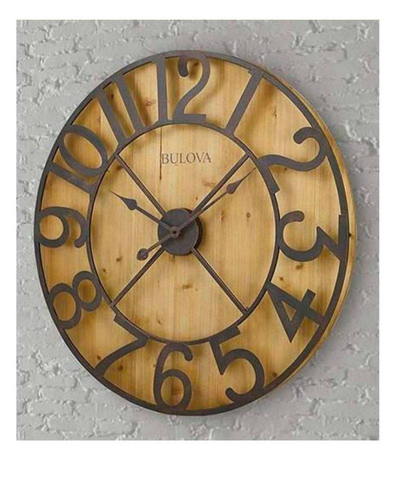 Brown Vintage Iron Round Shaped Wall Clock