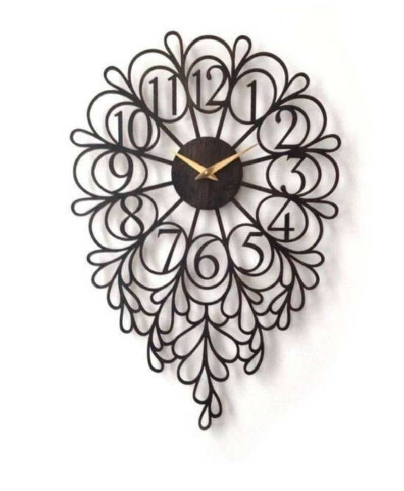 Green Vintage Iron Other Shaped Wall Clock