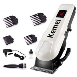OUD KM-809A Rechargeable LCD Display Hair Salon Household Electric Hair Clipper Trimmer For Unisex (Multicolor)