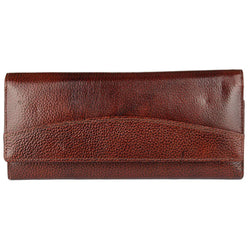Stylish Leather Brown Hand Cluches For Women
