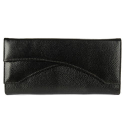 Stylish Leather Black Hand Cluches For Women