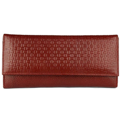 Stylish Leather Maroon  Hand Cluches For Women