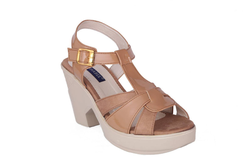 Women Synthetic Beige Wedges