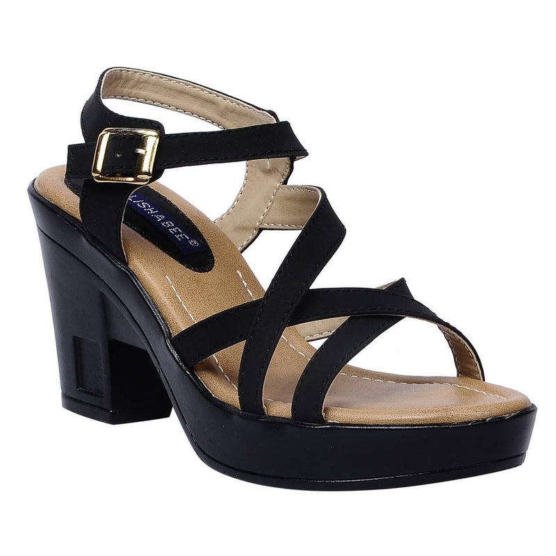 Women Synthetic Black wedges