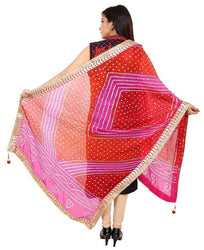 Stylish Art Silk Bandhani Printed Dupatta