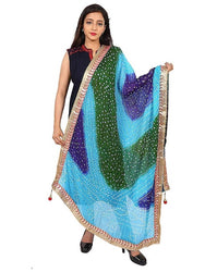 Stylish Art Silk Bandhani Printed Dupatta Set