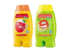 Avon Naturals Kids Shampoo & Conditioner – Amazing Apple (200 ml) + 2-in-1 Body Wash & Bubble Bath – Magnificent Mango (200 ml) Set of 2