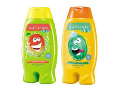 Avon Naturals Kids Shampoo & Conditioner – Wacky Watermelon(200 ml) + 2-in-1 Body Wash & Bubble Bath– Magnificent Mango (200 ml) Set of 2