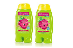 Avon Naturals Kids Swirling Strawberry 2-In-1 Body Wash & Bubble Bath 200 ML Each, Set of 2