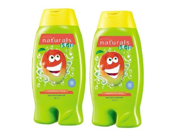 Avon Naturals Kids 2-in-1 Body Wash & Bubble Bath– Magnificent Mango (200 ml) Set of 2