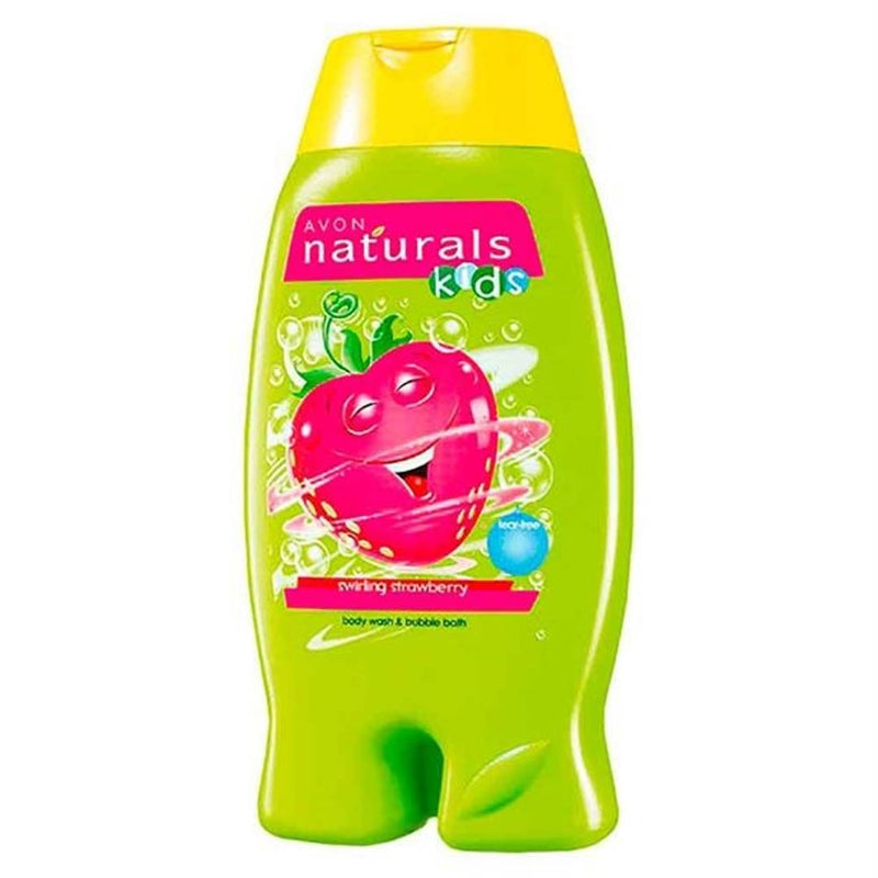 Avon Naturals Kids Swirling Strawberry 2in1 Body Wash And Bubble Bath 200 ml