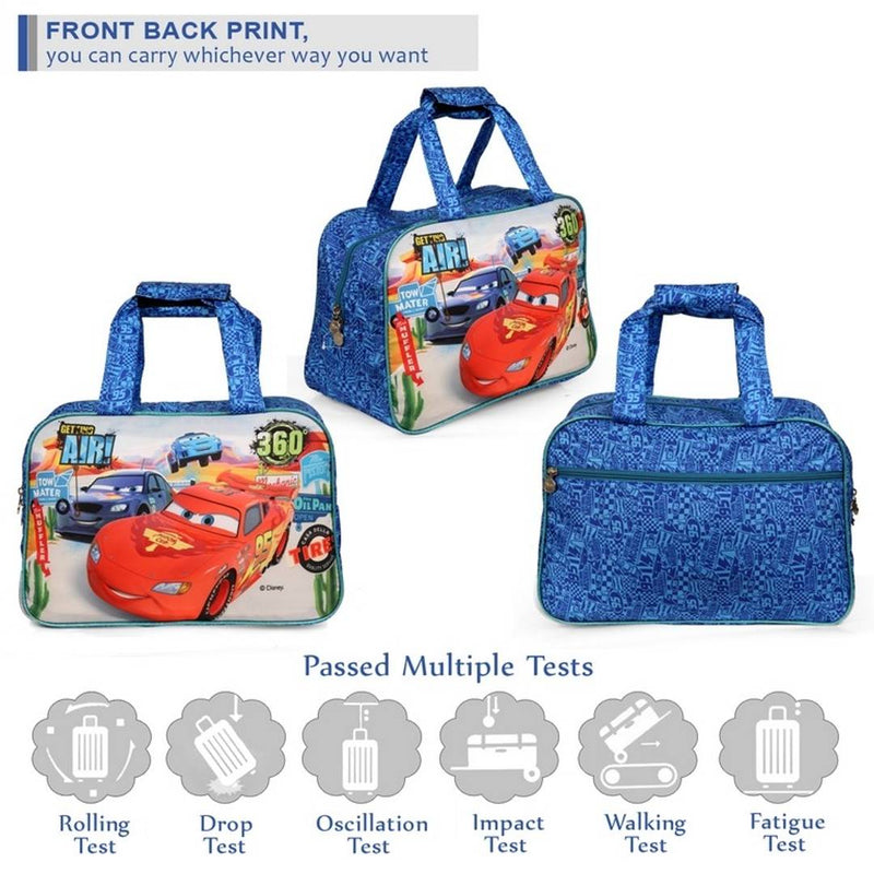 Premium Blue Cars Printed Kids Duffle Bag With School Bag For Kids  (30 Ltr)