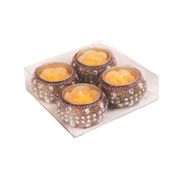 Premium Matki Design Flower Shape Candle For Decoration( Pack Of 12 Pieces )