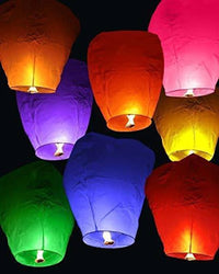 Make A Wish High Flying Sky Lantern Hot Air Balloon (10 pc)