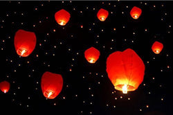 Make A Wish High Flying Sky Lantern Hot Air Balloon (25 pc)