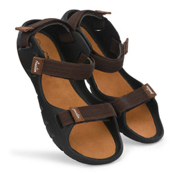 Men's Stylish and Trendy Brown Self Design Synthetic Casual Comfort Sandals