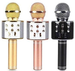 WS-858 Karaoke Mic Microphone with inbuilt Wireless Bluetooth Speaker Microphone