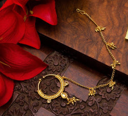 Stylish Golden Alloy Nose Pins For Women