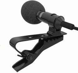 Clip Microphone For Youtube, Collar Mike For Voice Recording, Mobile, Pc, Laptop, Android Smartphones - Black