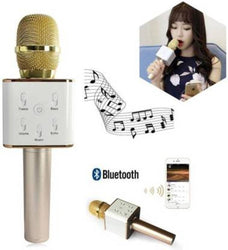 VRJTEC Q7 Wireless Multi-Function Karaoke Model Round Handle Microphone Microphone