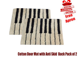 Christmas design Cotton Door Mat with anti skid back and Apron