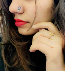Trendy German Silver Nose pin for Women