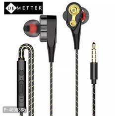 DeMetter In-Ear Wired Earphones With Stereo Sound- Black