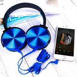 Stylish Blue Wired Extra Bass Headset