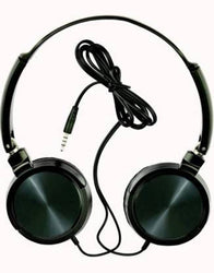 Stylish Black High Quality Sound Wired Extra Bass Headphones