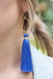 ROYAL BLUE OYSTER TASSELS
