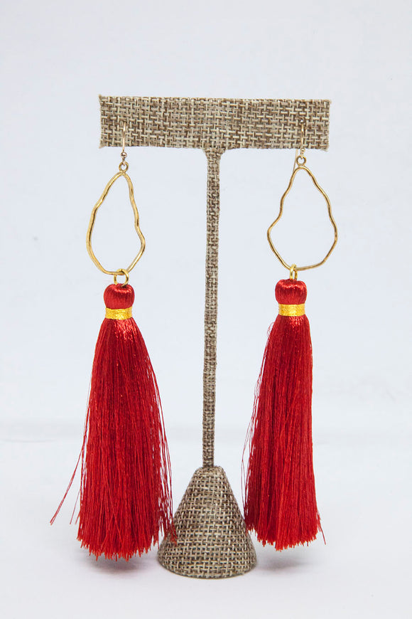 RED OYSTER TASSELS