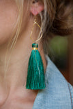 HUNTER GREEN OYSTER TASSELS