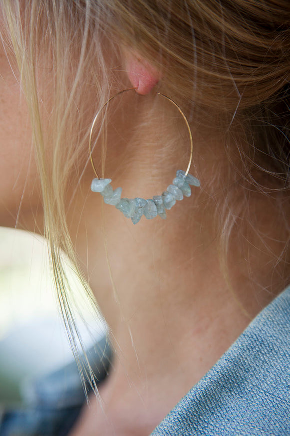 AQUAMARINE HOOPS